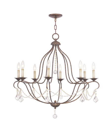 Livex 6428-71 Chesterfield 8 Light 32 inch Venetian Golden Bronze Chandelier Ceiling Light photo