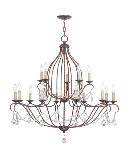 Venetian Bronze Chandelier: Livex Lighting Chesterfield 15 Light Chandelier In