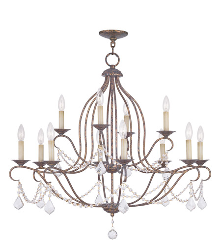 Livex Lighting Chesterfield 12 Light Chandelier in Venetian Golden Bronze 6438-71 photo
