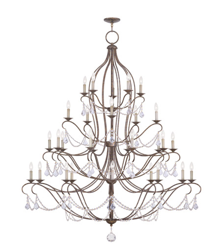 Livex 6459-71 Chesterfield 30 Light 60 inch Venetian Golden Bronze Chandelier Ceiling Light photo