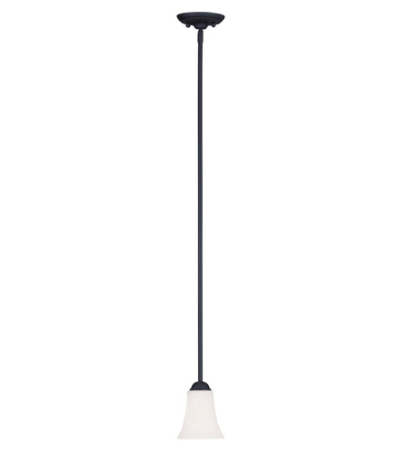 Livex 6460-04 Ridgedale 1 Light 6 inch Black Mini Pendant Ceiling Light photo