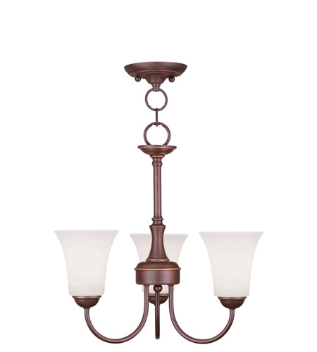Livex 6463-70 Ridgedale 3 Light 18 inch Vintage Bronze Pendant/Ceiling Mount Ceiling Light photo