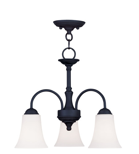 Livex Lighting Ridgedale 3 Light Pendant/Ceiling Mount in Black 6464-04 photo