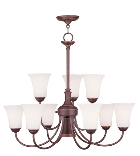 Livex 6469-70 Ridgedale 10 Light 30 inch Vintage Bronze Chandelier Ceiling Light photo