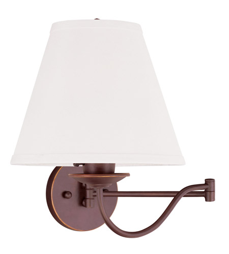 Livex Lighting Ridgedale 1 Light Swing Arm Wall Lamp in Vintage Bronze 6471-70 photo