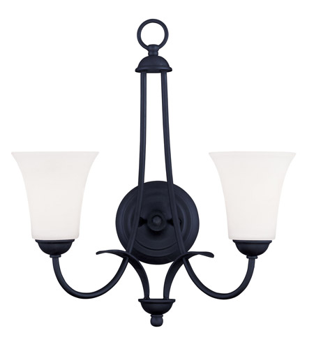 Livex Lighting Ridgedale 2 Light Wall Sconce in Black 6472-04 photo