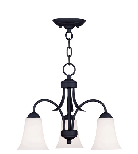 Livex Lighting Ridgedale 3 Light Pendant/Ceiling Mount in Black 6474-04 photo