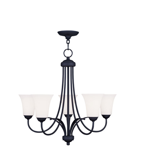 Livex Lighting Ridgedale 5 Light Chandelier in Black 6475-04 photo
