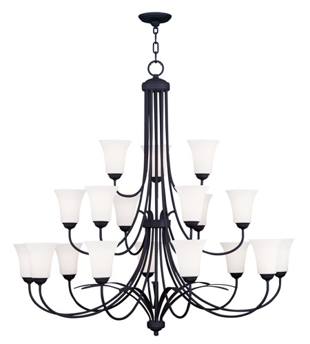 Livex Lighting Ridgedale 18 Light Chandelier in Black 6479-04 photo