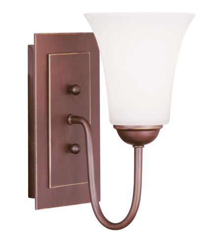 Livex Lighting Ridgedale 1 Light Wall Sconce in Vintage Bronze 6481-70 photo