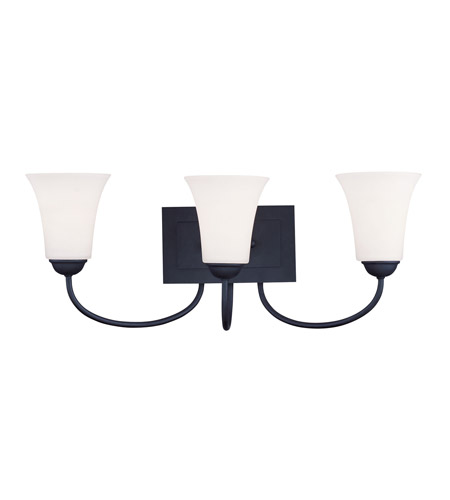 Livex 6483-04 Ridgedale 3 Light 24 inch Black Bath Light Wall Light photo thumbnail