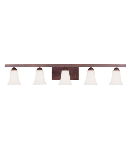 Livex Lighting Ridgedale 5 Light Bath Light in Vintage Bronze 6485-70 photo