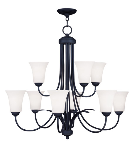 Livex 6489-04 Ridgedale 9 Light 30 inch Black Chandelier Ceiling Light photo