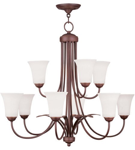 Livex Lighting Ridgedale 9 Light Chandelier in Vintage Bronze 6489-70 photo