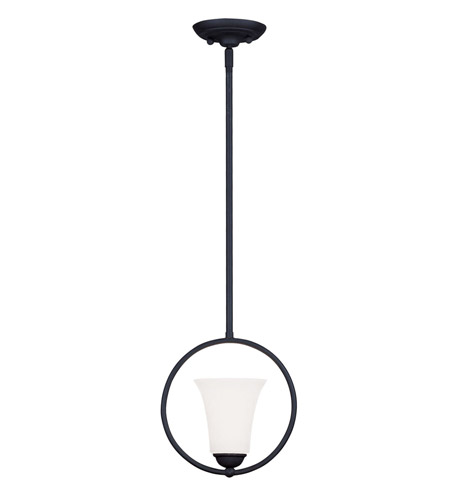 Livex Lighting Ridgedale 1 Light Pendant in Black 6490-04 photo