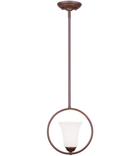 Livex 6490-70 Ridgedale 1 Light 9 inch Vintage Bronze Pendant Ceiling Light photo