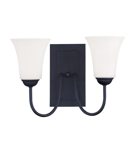 Livex Lighting Ridgedale 2 Light Wall Sconce in Black 6492-04 photo