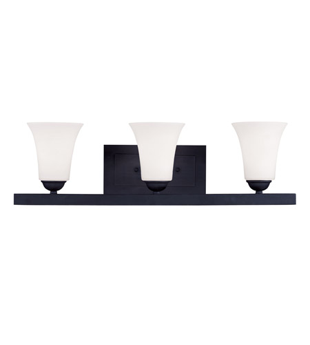 Livex Lighting Ridgedale 3 Light Bath Light in Black 6493-04 photo
