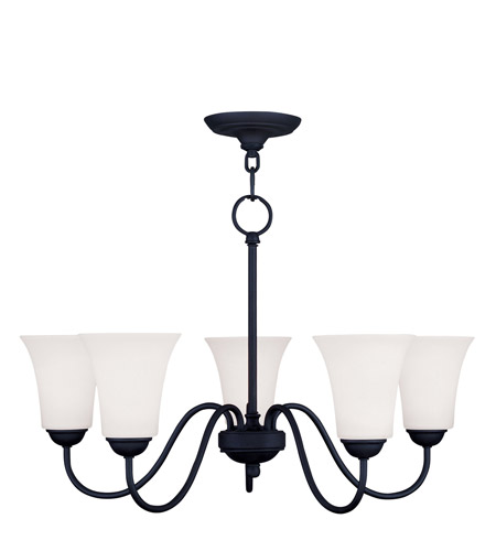 Livex Lighting Ridgedale 5 Light Chandelier in Black 6505-04 photo