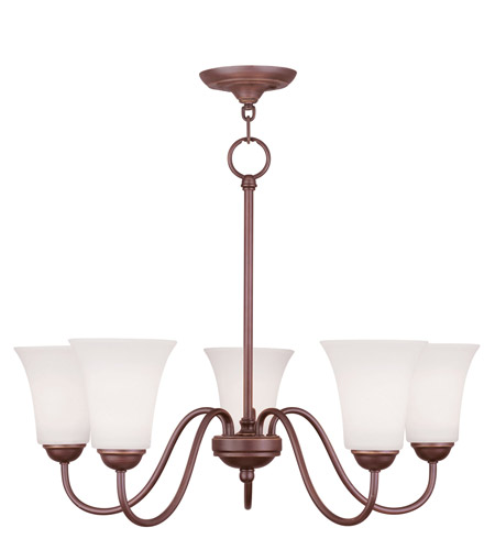 Livex Lighting Ridgedale 5 Light Chandelier in Vintage Bronze 6505-70 photo