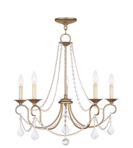 Livex 6515-73 Pennington 5 Light 25 inch Antique Silver Leaf Chandelier  Ceiling Light photo - Livex 6515-73 Pennington 5 Light 25 Inch Antique Silver Leaf
