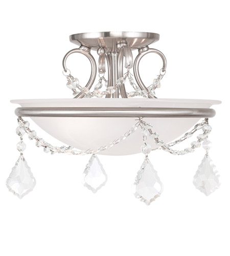 Livex 6523-91 Chesterfield and Pennington 2 Light 12 inch Brushed Nickel Ceiling Mount Ceiling Light photo