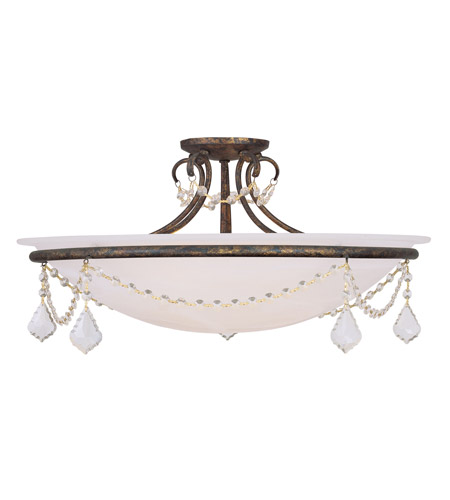 Livex 6526-71 Chesterfield 4 Light 24 inch Venetian Golden Bronze Ceiling Mount Ceiling Light photo thumbnail