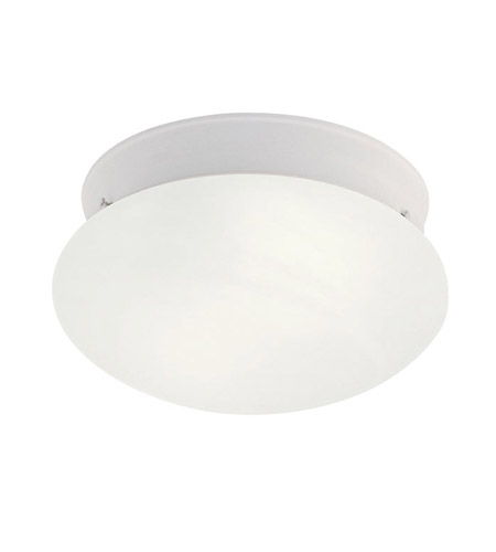 Livex 7007-03 Home Basics 1 Light 8 inch White Ceiling Mount Ceiling Light photo