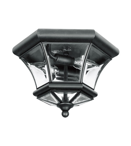 Livex 7052-04 Monterey 2 Light 11 inch Black Ceiling Mount Ceiling Light photo