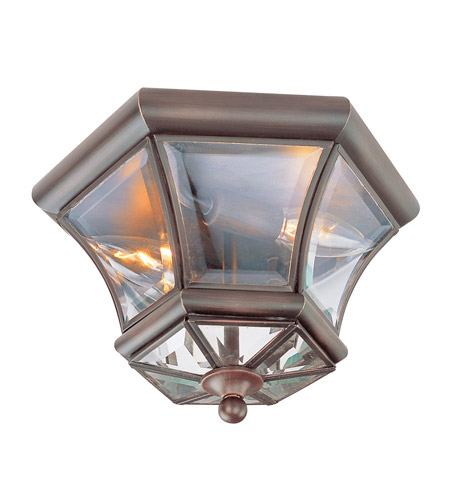 Livex Lighting Monterey 2 Light Ceiling Mount in Imperial Bronze 7052-58 photo