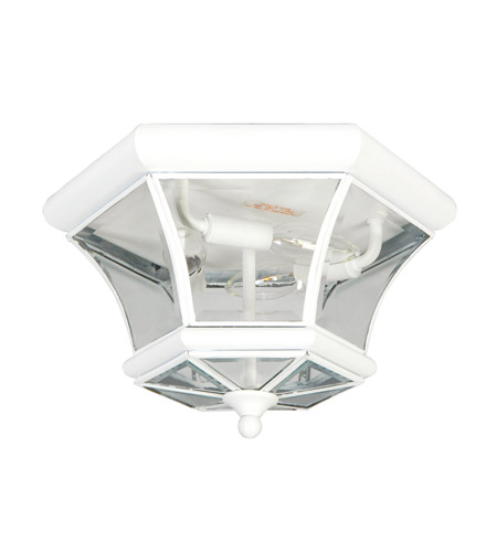 Livex 7053-03 Monterey 3 Light 13 inch White Ceiling Mount Ceiling Light photo