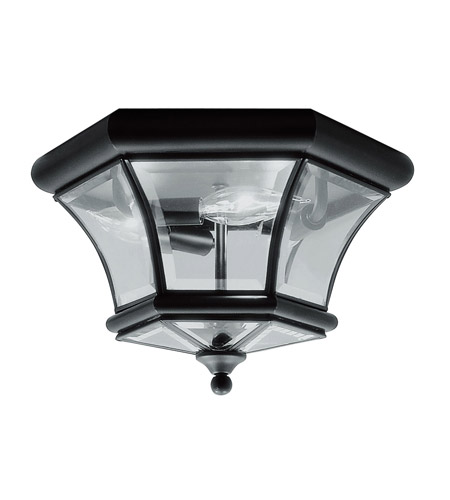 Livex 7053-04 Monterey 3 Light 13 inch Black Ceiling Mount Ceiling Light photo