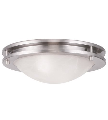 Livex 7057-91 Ariel 2 Light 11 inch Brushed Nickel Ceiling Mount Ceiling Light photo