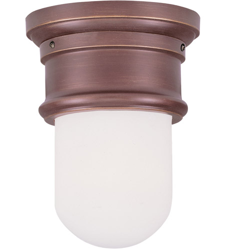 Livex 7340-70 Signature 1 Light 6 inch Vintage Bronze Ceiling Mount Ceiling Light photo