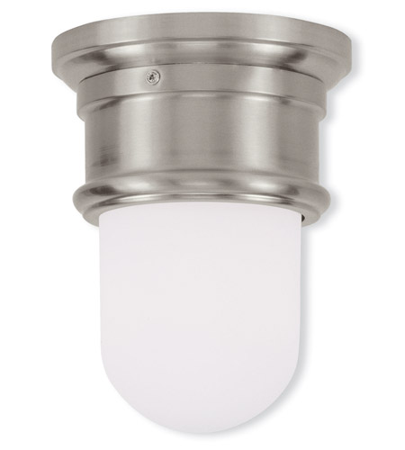 Livex Lighting Signature 1 Light Ceiling Mount in Brushed Nickel 7340-91 photo
