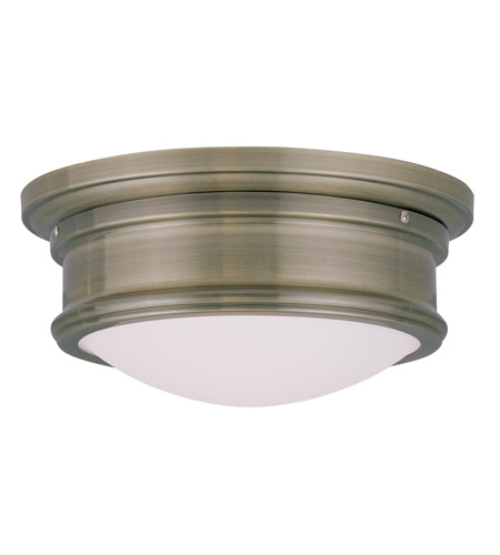 Livex Lighting Signature 2 Light Ceiling Mount in Antique Brass 7341-01 photo