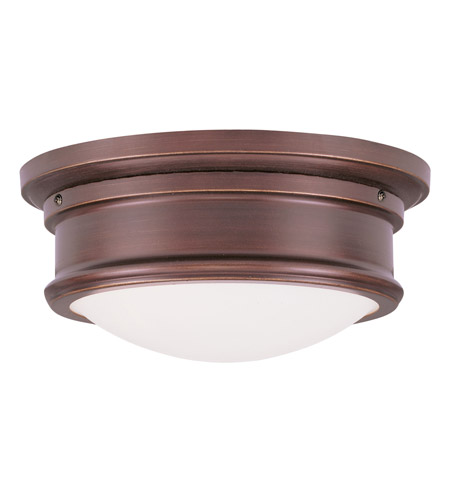 Livex Lighting Signature 2 Light Ceiling Mount in Vintage Bronze 7341-70 photo