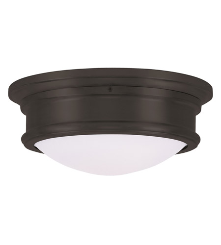 Livex 7342-07 Signature 2 Light 13 inch Bronze Ceiling Mount Ceiling Light photo thumbnail