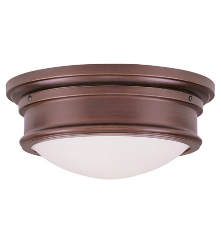 Livex 7342-70 Signature 2 Light 13 inch Vintage Bronze Ceiling Mount Ceiling Light photo