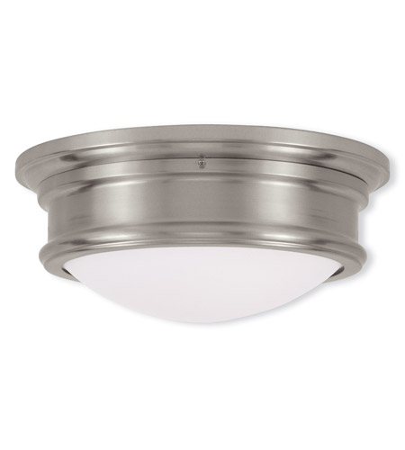 Livex 7342-91 Signature 2 Light 13 inch Brushed Nickel Ceiling Mount Ceiling Light photo
