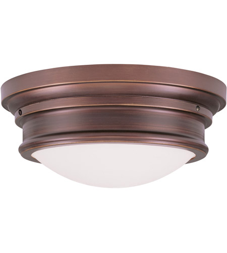 Livex 7343-70 Signature 3 Light 16 inch Vintage Bronze Ceiling Mount Ceiling Light photo