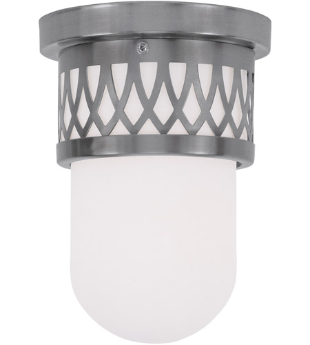 Livex Lighting Westfield 1 Light Ceiling Mount in Brushed Nickel 7350-91 photo