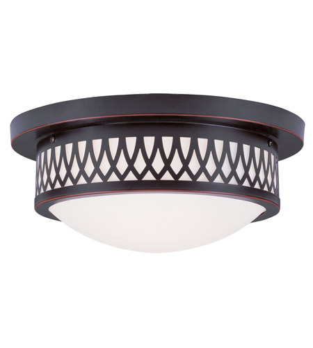 Livex 7352-67 Westfield 2 Light 13 inch Olde Bronze Ceiling Mount Ceiling Light photo
