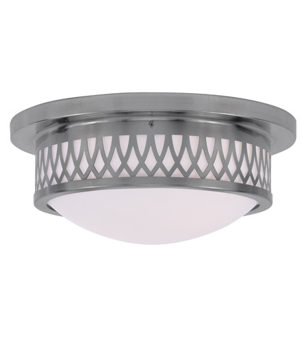 Livex 7352-91 Westfield 2 Light 13 inch Brushed Nickel Ceiling Mount Ceiling Light photo