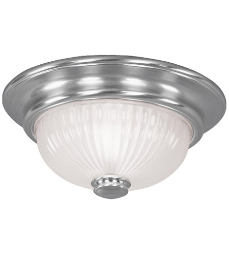 Livex 7417-91 Beacon Hill 2 Light 12 inch Brushed Nickel Ceiling Mount Ceiling Light photo