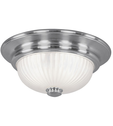 Livex Lighting Beacon Hill 2 Light Ceiling Mount in Brushed Nickel 7418-91 photo