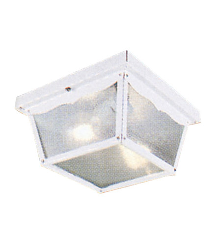 Livex Lighting Outdoor Basics 2 Light Outdoor Ceiling Mount in White 7502-03 photo