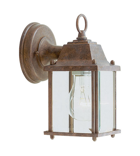 Livex Lighting Outdoor Basics 1 Light Outdoor Wall Lantern in Weathered Brick 7506-18 photo