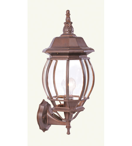 Livex Lighting Frontenac 1 Light Outdoor Wall Lantern in Weathered Brick 7521-18 photo