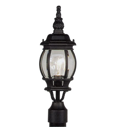 Livex Lighting Frontenac 1 Light Outdoor Post Head in Black 7522-04 photo